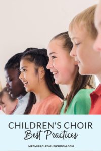 Best practices for children's choir: Podcast and blog post with ideas for warm-ups, octavos, social events for choir, and more!
