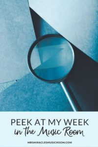 Peek at my Week: Tons of activities and lesson ideas for your elementary music lessons!