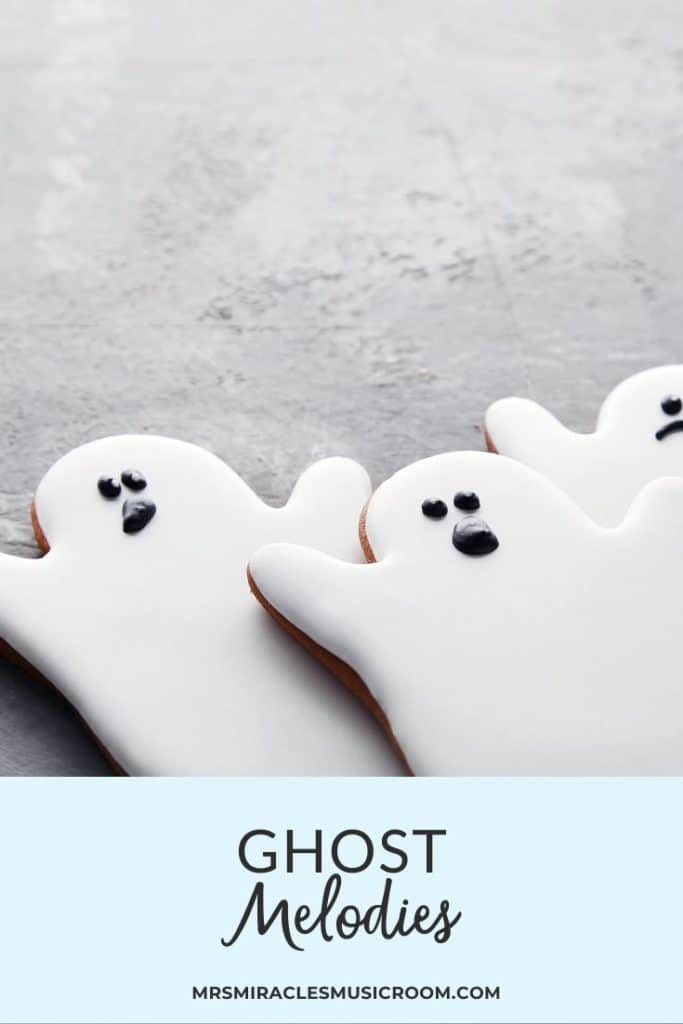 Ghost Melodies: A fun vocal exploration activity for Kindergarten and First Grade in the music room!