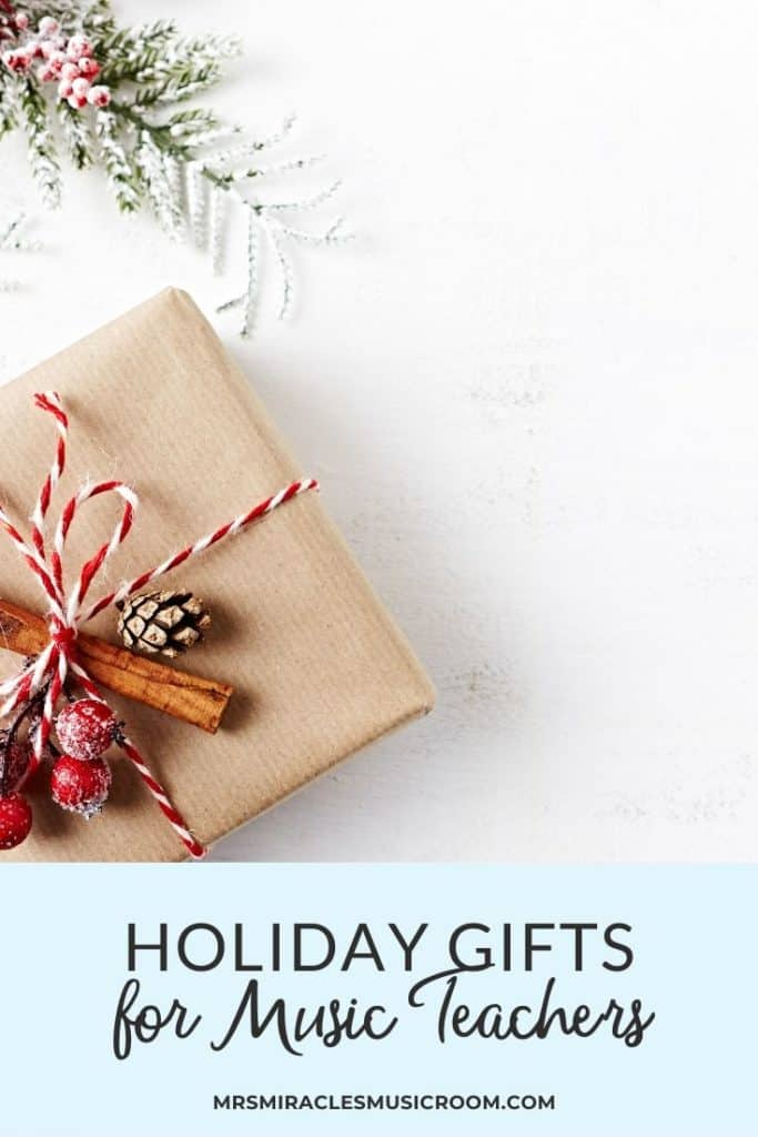 Holiday Gift Guide for Music Teachers: Great list of items to purchase as a music teacher, or to buy for your favorite music teacher!