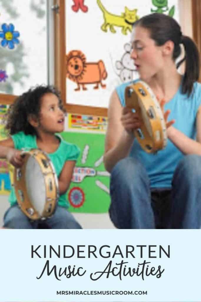 Favorite Kindergarten activities for the music classroom, including a singing game, movement activities, and more!