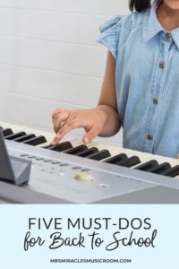 Five Must-Dos for Back to School in the Music Room: Tasks that will help you be prepared for music lessons at the start of the year!
