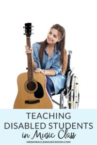 Teaching Disabled Students in Music Class: Thoughts on how to best teach disabled students in music class, as well as adaptive tools that could improve students' learning