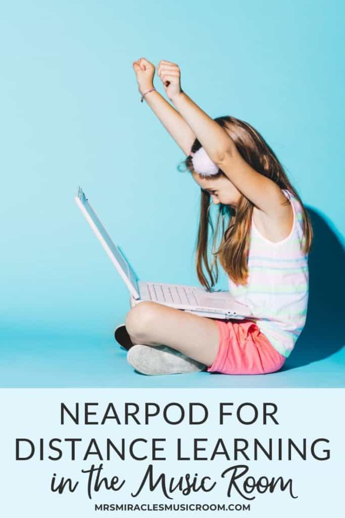 Nearpod for distance learning in the music room: Ideas for creating a seamless lesson for rhythm, with videos, questions, opportunities for creating, and more!