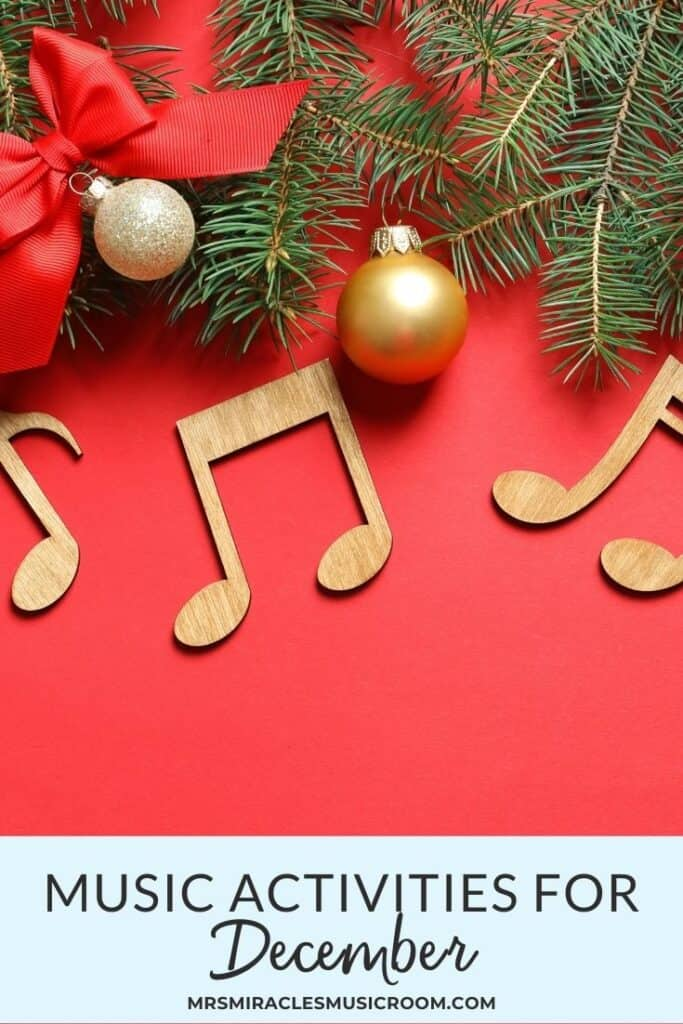 Music activities for December: Ideas for your music room, for your socially distanced or in person music lessons!