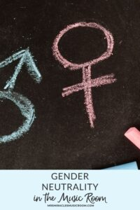Male and female symbols, written with chalk