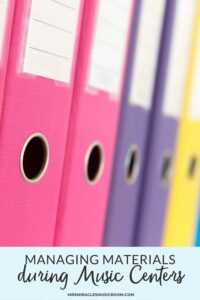 Picture of colorful binders