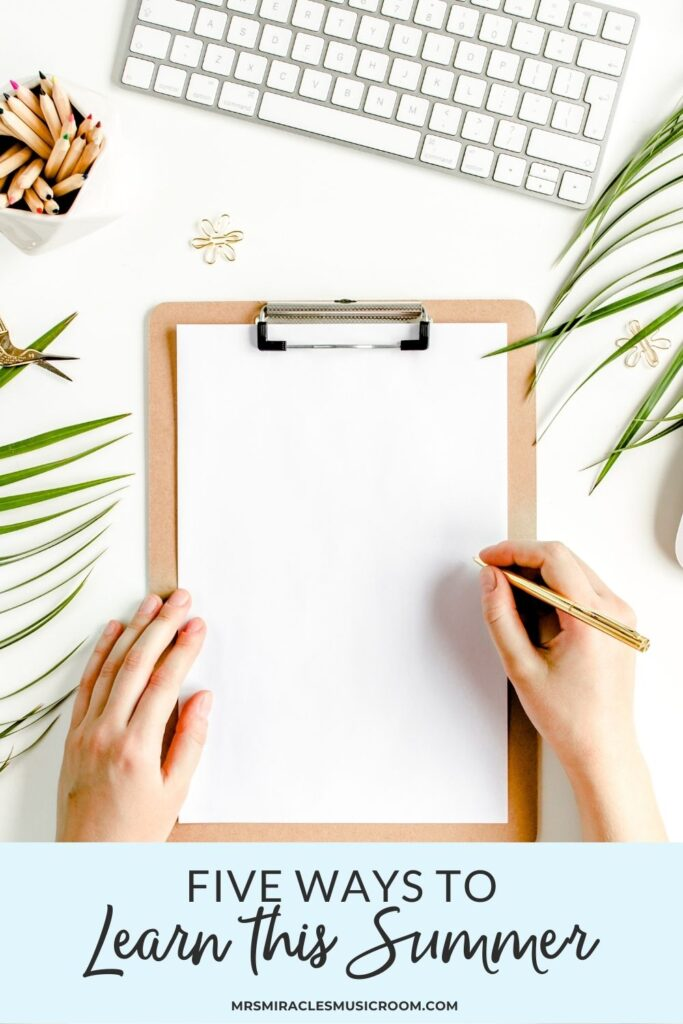 Clipboard on white background, with palm leaves